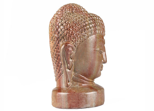 Decorative,Unique and Stunning Stone Statue of Buddha Head STONE11