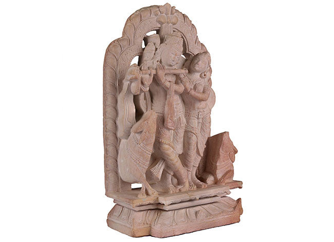 Decorative,Unique and Stunning Stone Statue of  RADHA KRISHNA STONE8