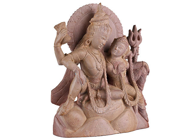 Decorative,Unique and Stunning Stone Statue of  SHIVA PARVATI STONE24