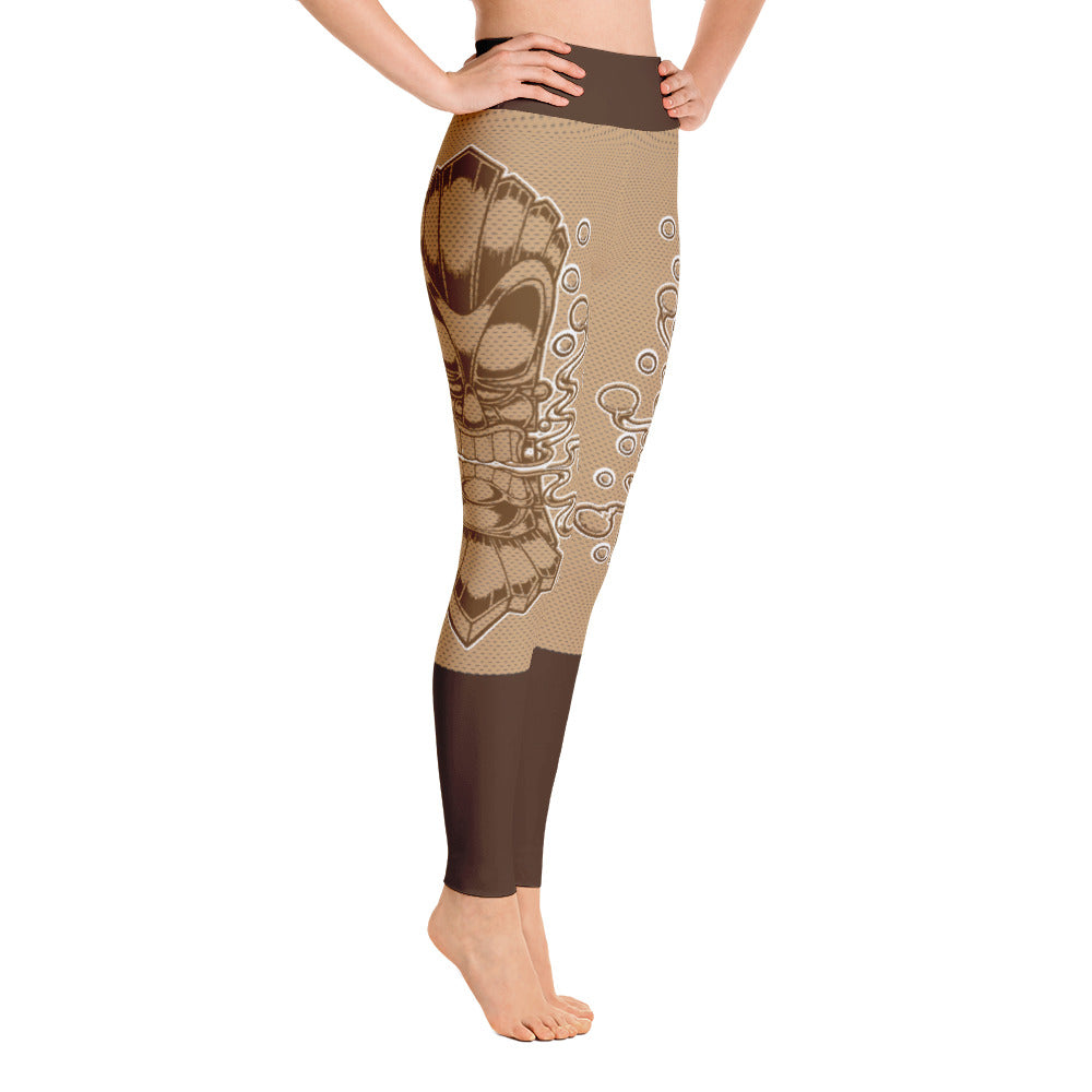 "Alex Lanau ""Tiki Textured"" Yoga Leggings"