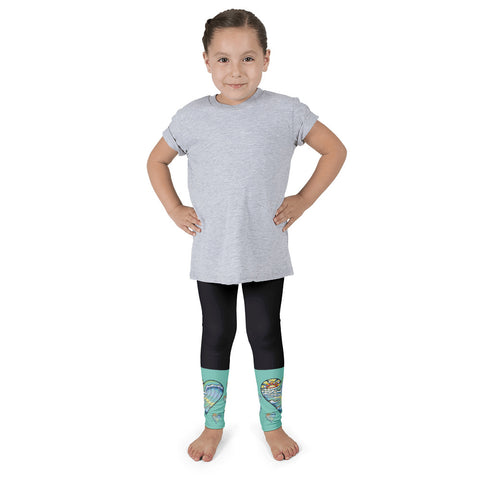 """Heart Wave Stripe"" Kid's leggings"