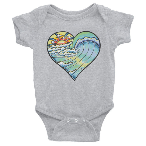 """Heart Wave"" Infant Bodysuit"