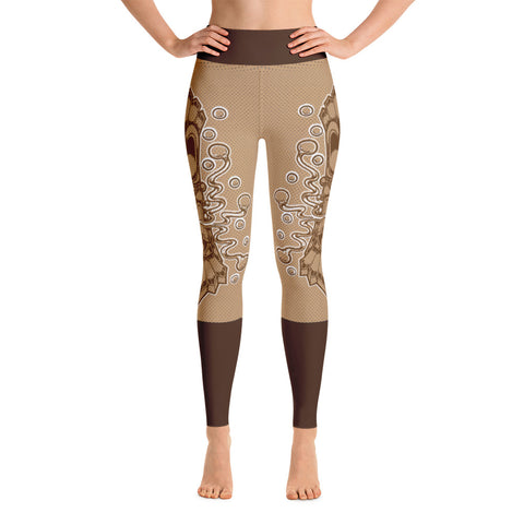 """Tiki Textured"" Yoga Leggings"
