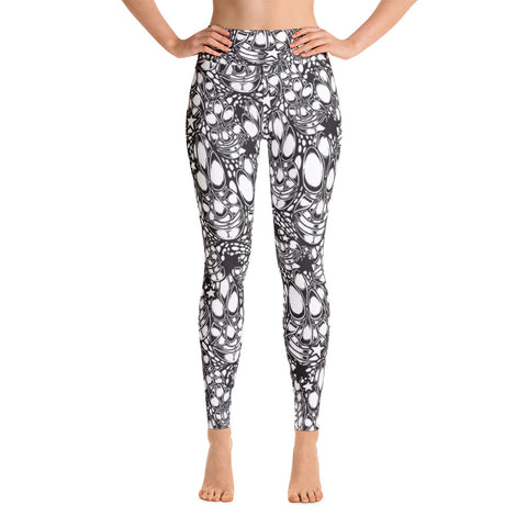 """Telofa in B/W"" Yoga Leggings"