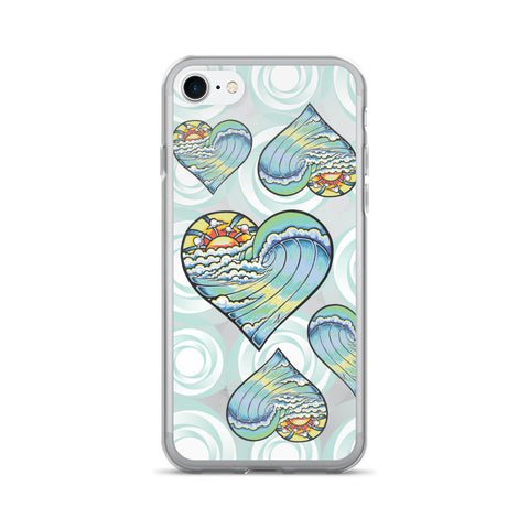 "Alex Lanau ""Heart Wave"" iPhone 7/7 Plus Case"