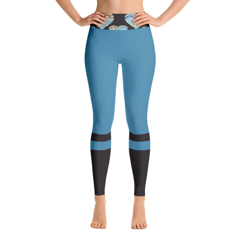 """Heart Wave""  Yoga Leggings"