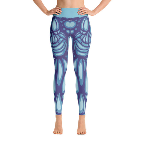"""Tiki Heads"" Yoga Leggings"