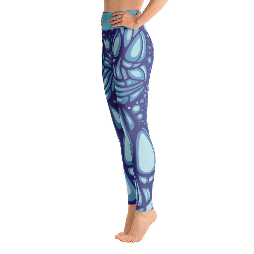 Alex Lanau Tiki Heads Yoga Leggings