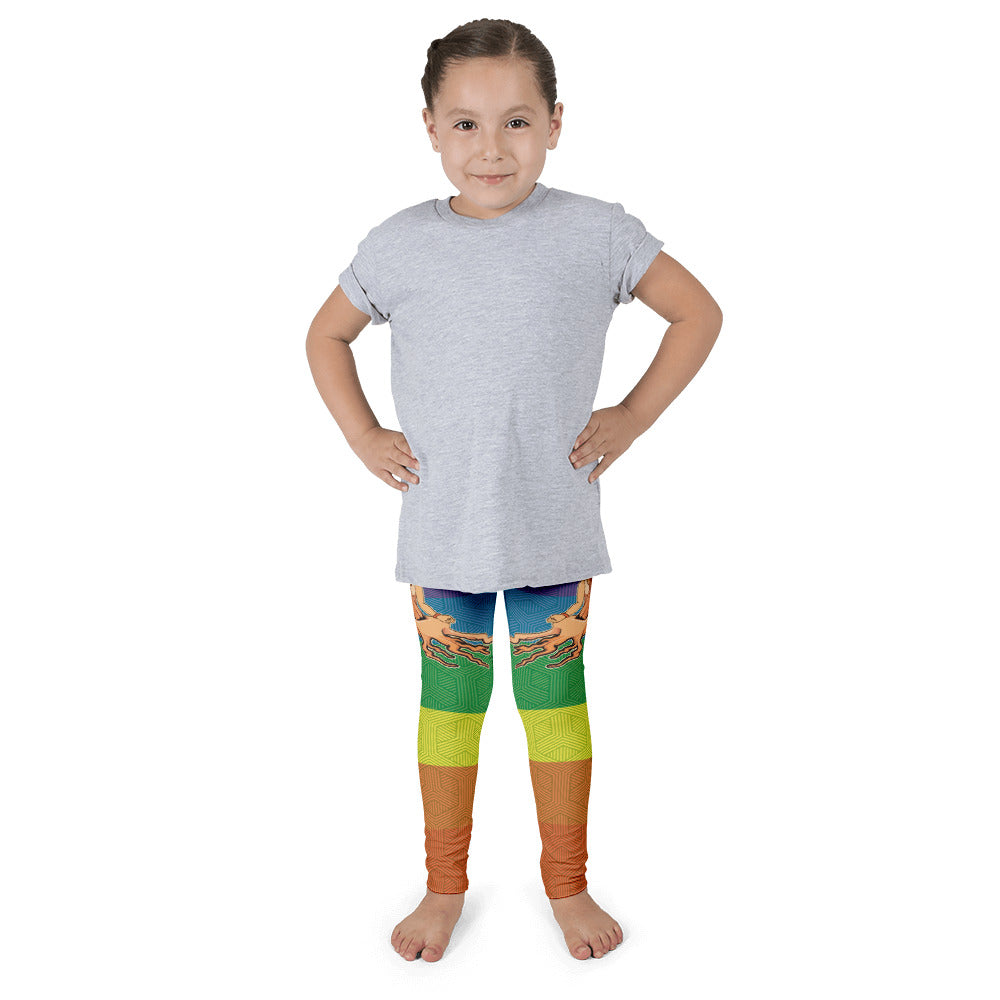 "Alex Lanau ""Chakras And Mudra"" Kid's leggings"