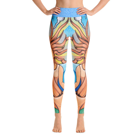 """Mudra All-Over"" Yoga Leggings"