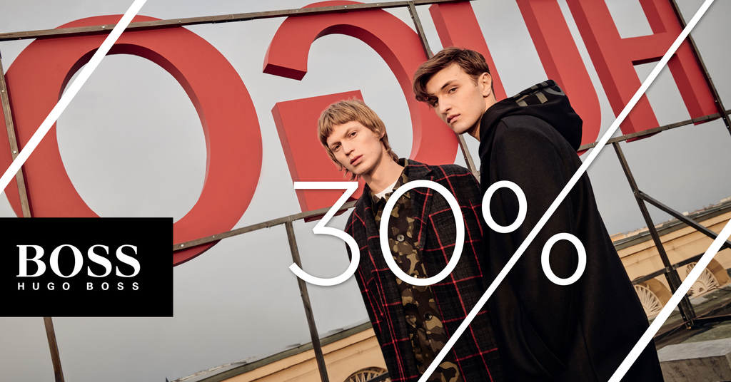 30% DE RÉDUCTION SUR LA COLLECTION BOSS