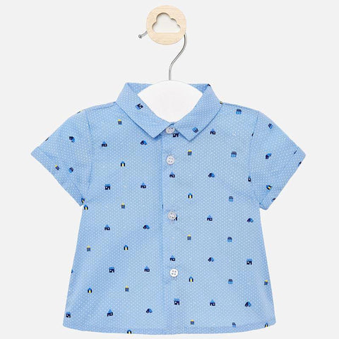 Mayoral Newborn hemd lightblue - Petit Bébé