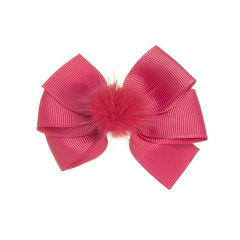 Siena duck clip with pompon Fucsia
