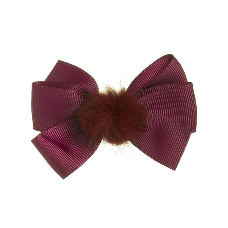 Siena duck clip with pompon Burdeos