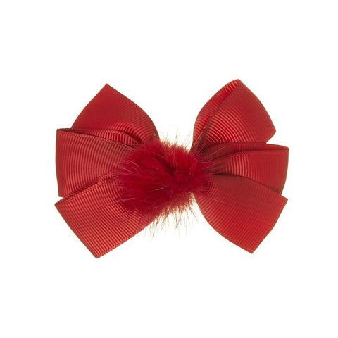 Siena duck clip with pompon Rojo