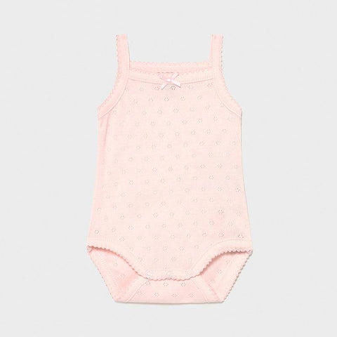 Mayoral Newborn Basic body with straps baby rose - Petit Bébé