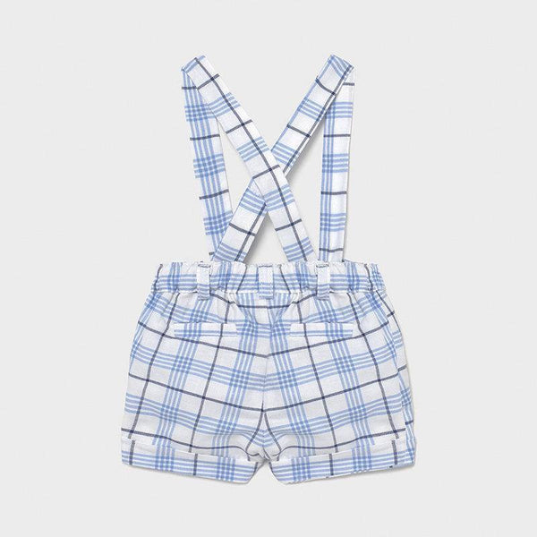 Mayoral Newborn shorts with suspenders air - Petit Bébé