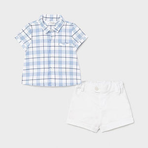 Mayoral Newborn Shorts and shirt set air - Petit Bébé