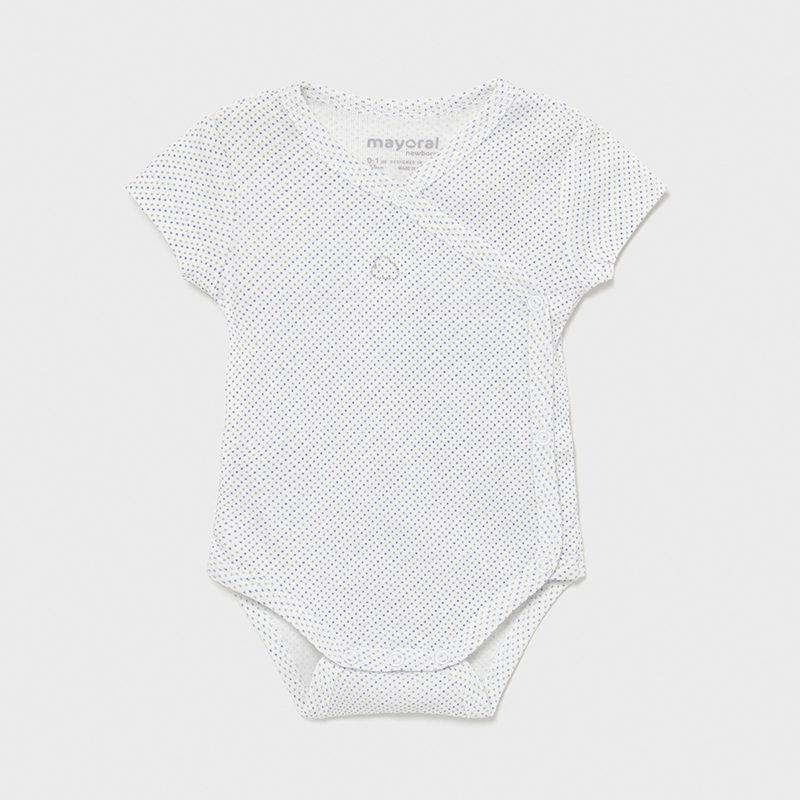 Mayoral Newborn short sleeve bodysuit blue - Petit Bébé