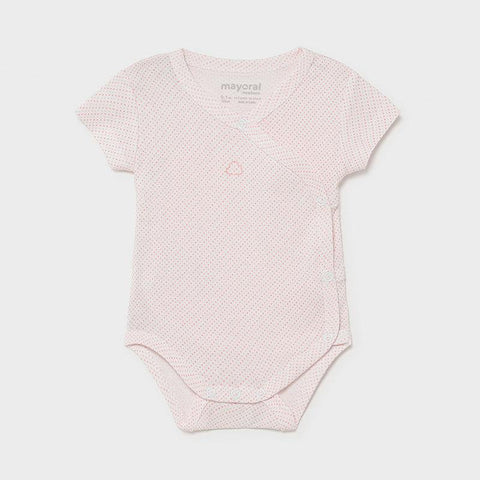 Mayoral Newborn short sleeve bodysuit baby rose - Petit Bébé