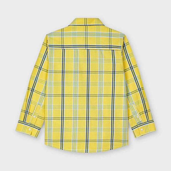 Mayoral L/s plaid shirt banana - Petit Bébé