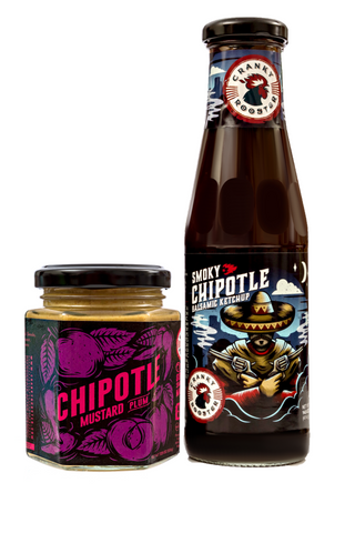 CHIPOTLE-PLUM SPICY MUSTARD & BALSAMIC SMOKY CHIPOTLE KETCHUP