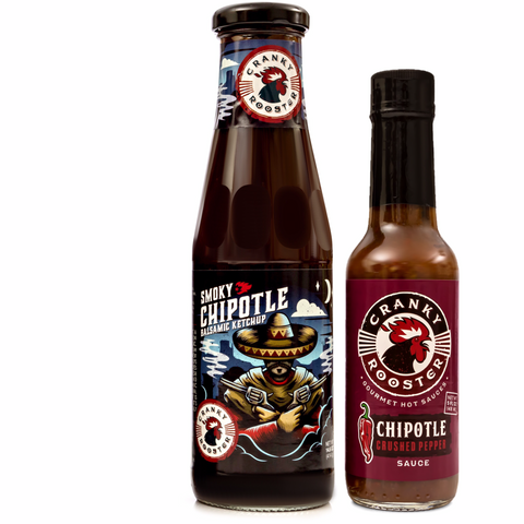 CHIPOTLE SET: BALSAMIC KETCHUP & HOT SAUCE