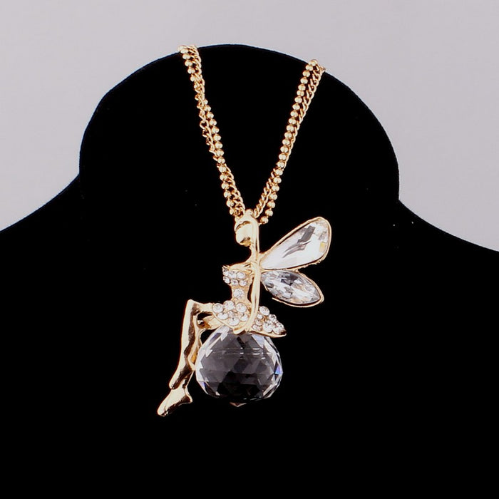 Fairy Rhinestone Pendant Necklace - Mistics