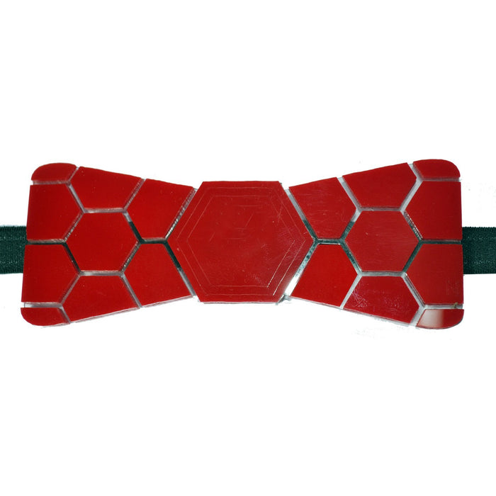 Limited Edition Red Shine Hex Bow Tie - Mistics