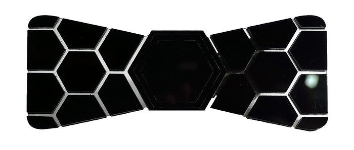 Limited Edition  Black Shine Hex Bow Tie - Mistics