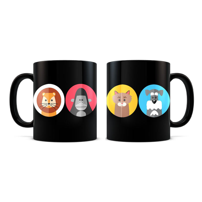 Animals Black Coffee Mug - Mistics