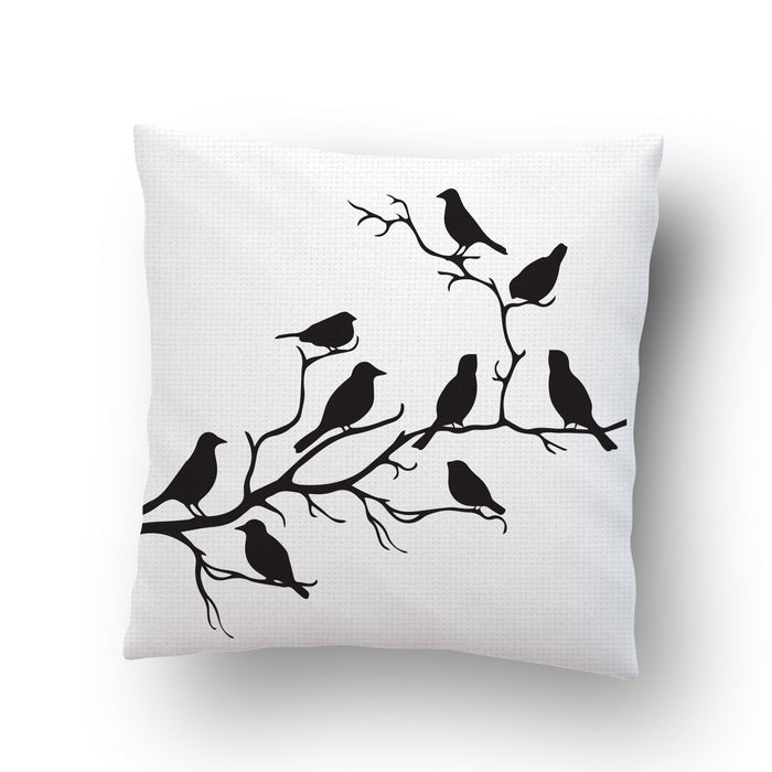 Birds On Branch Cushion Cover - Mistics
