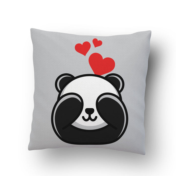 Panda in Love Cushion cover