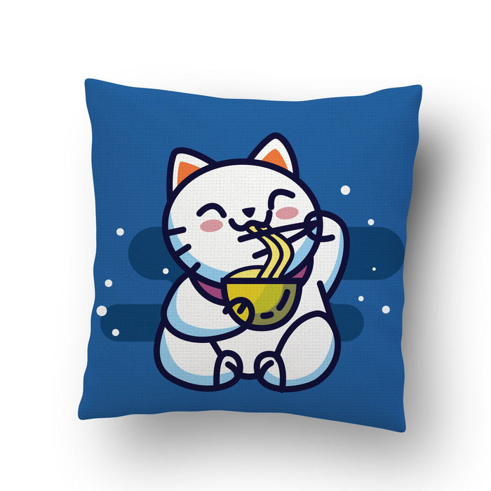 Kitty Noodles Cushion Cover
