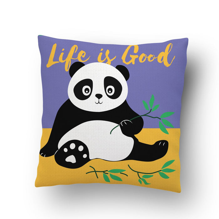 Life is Good Panda Cushion Cover