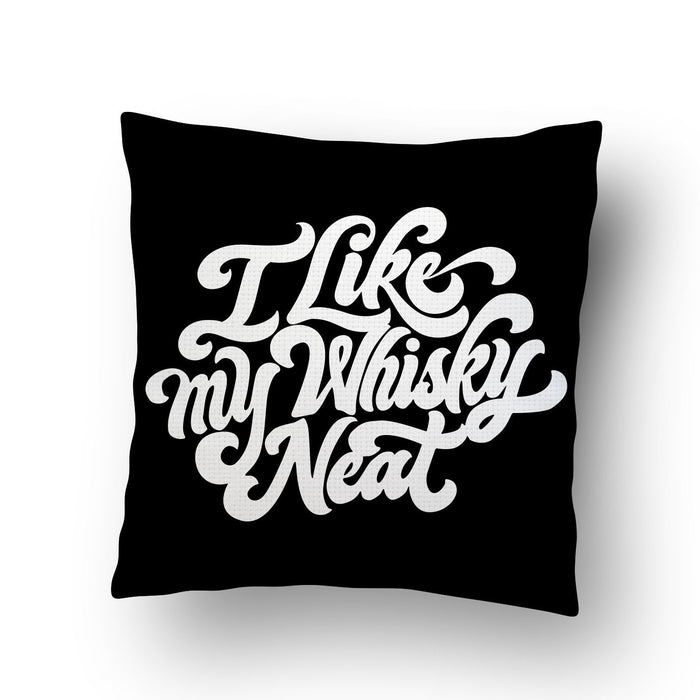 Neat Whiskey Cushion Cover