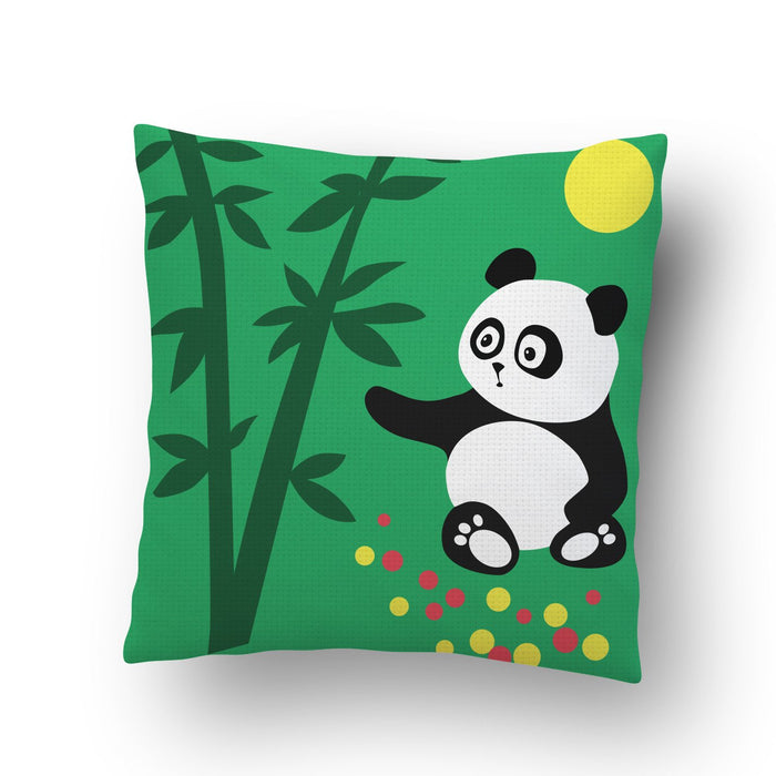 Panda In Woods Cushion Cover - Mistics