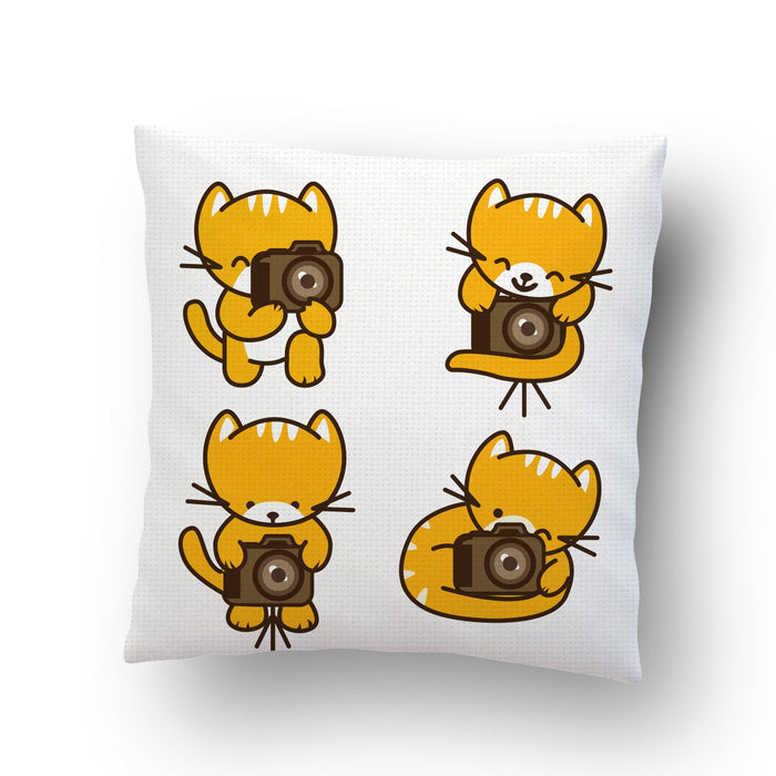 Photographer Kitty Cushion Cover