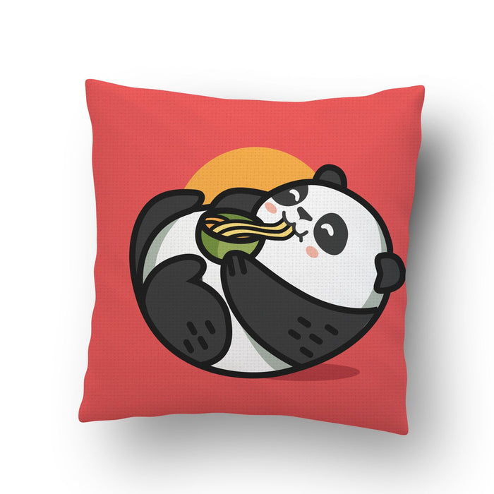 Panda Noodles Cushion Cover