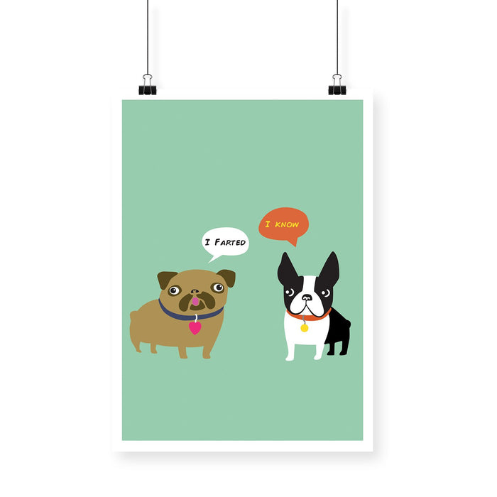 Dogs Fart Poster - Mistics