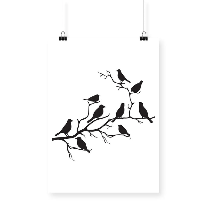 Birds on Branch Poster - Mistics