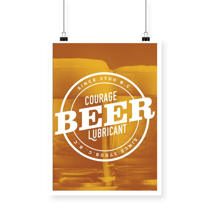 Courage Lubricant Beer Golden BlackBora Poster - Mistics
