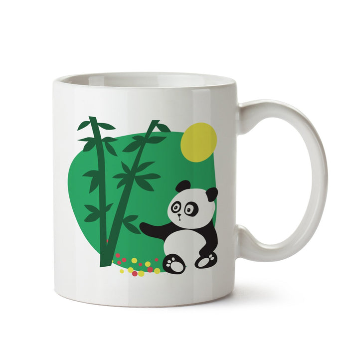 Panda In Woods White Coffee Mug - Mistics