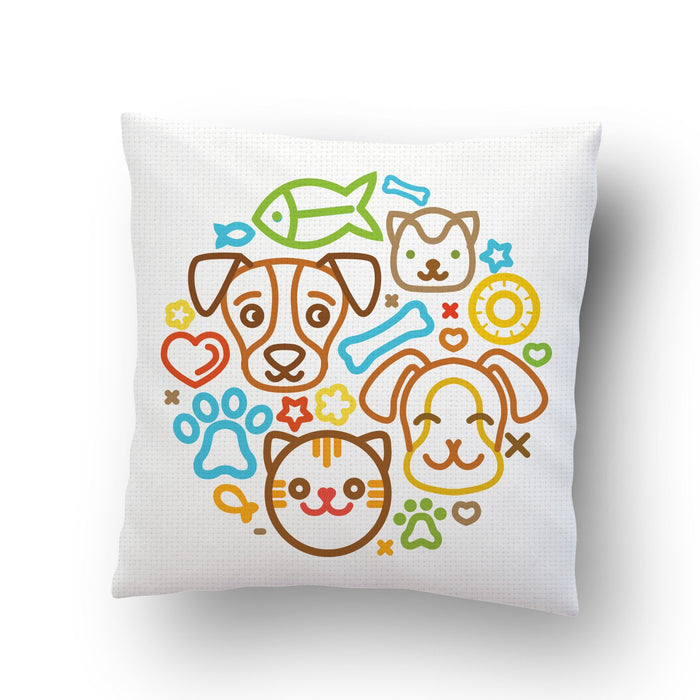 Cute Pets Cushion Cover - Mistics