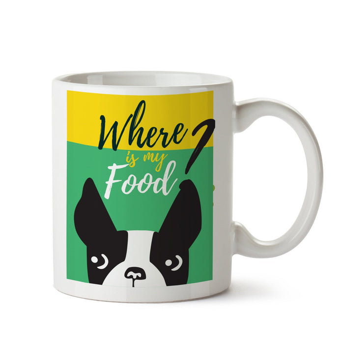 Where Is Food White Coffee Mug - Mistics