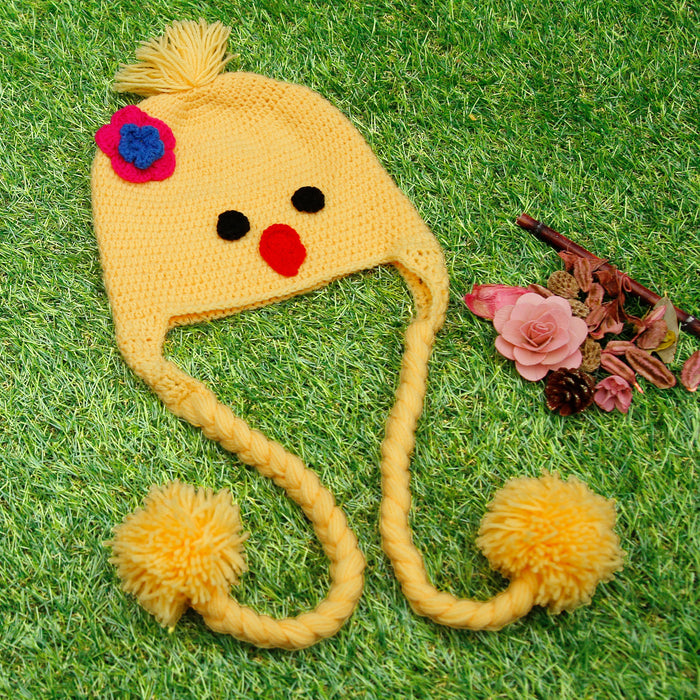 Pure Wool Little Birdie Braid Cap For Baby Girls - Mistics
