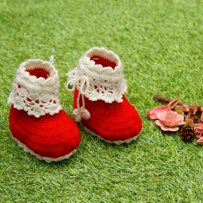 Pure Wool Lace Love Booties - Mistics