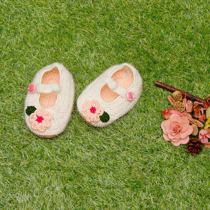 Pink Booties With Flowers - Mistics