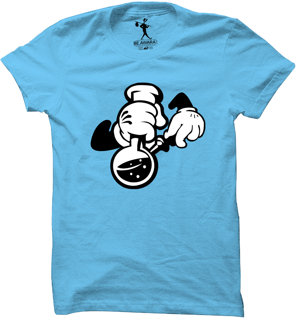Mickey Hand With Bong T-Shirt - Mistics