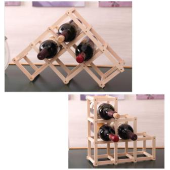 Wooden Foldable Wine Rack - Mistics